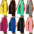 Fashion Colorful Trends High Waisted Double Slits Sexy Women Maxi Skirt N4U8