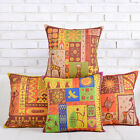 """Colorful Indian Style Cushion Cover Home Decor Pillow Case Square 18"""" Linen"""