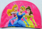 Girls Boys Cartoon Kids Princess Super Hero Car Swimming Hats Bathing Caps 2-9Y