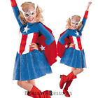 CK504 Captain America Marvel Child Superhero Fancy Dress Up Girls Hero Costume