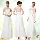 Ever Pretty Eleagnt Sleeveless White Long Party Evening Prom Dress 08189