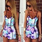 Ladies Clubwear V Neck Playsuit Bodycon Jumpsuit Casual Romper Trousers