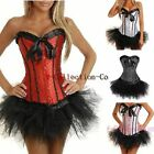 Burlesque/Halloween Polka Spot Lace up Boned Corset &Tutu Fancy Dress Hen Outfit