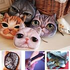 Children Cute Animal Face Zipper Case Coin Kids Purse Wallet Makeup Bag Pouch