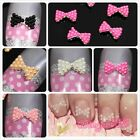 10pcs 3D Alloy Faux Pearl Bow Tie Nail Art Glitter Slices Acrylic Decoration DIY