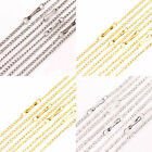 Lots 10/50Pcs 2*1mm Gold/Silver/White K Plated Filigree Metal Chain Necklace