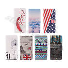 For Multi Phones Synthetic Leather Stand Credit Card Pocket Fine Wrap Case Cover