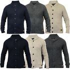 Mens Wool Mix Cardigan Threadbare Cable Knitted Jumper Sweater Jacquard Winter