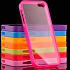 New TPU Frame Bumper Ultra Thin Clear Hard Back Case Cover for iPhone 5 5S 4 4S