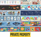 Prepasted Wall Border Ocean Stars Space Sea Love Planet Decor Accent Roll Decal