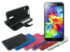 Leather Wallet Case Stand with Soft TPU for Samsung Galaxy S5 S V