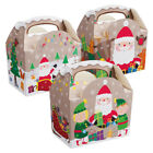 Christmas Party Food Boxes ~ Childrens Xmas Meal Bag Plate Box