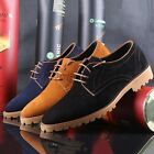 Formal Mens Oxford Chic Business Brogue Pointy Toe Casual Lace up Dress Shoes