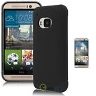 For HTC One M9  New Hybrid Shockproof Rugged Rubber Hard Matte Case Cover + Film