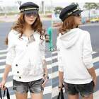 New Womens Sport Sweater Sweatshirt Jumper Jacket Hooded Coat Hoodie Outwear N4U