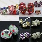 Wholesale Crystal Austria Rondelle Resin Loose Charms European Bead Fit Bracelet