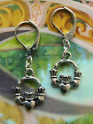 CLADDAGH LEVERBACK EARRINGS PIERCED EARS IRISH CELTIC LOVE FRIENDSHIP REIGN