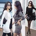 Autumn winter Sexy Women's long sleeve slim Bodycon Dress Skirts mini N4U8