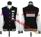 KPOP Bigbang New Made Baseball Uniform GD G-Dragon T.O.P Taeyang Jacket Coat