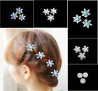 1x Chic Women Girls Party Snowflakes Headdress Cosplay Anime Hairpin Hair Clips