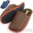 Mens Slip On Soft Fleeced Lined Warm Slippers / Mules