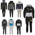Mens Fleece Tracksuit Joggers Top Bottoms Hooded Zip Hoodie Track Sweat Pants