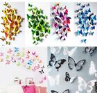 18pcs 3D Butterfly Sticker Art Design Decal Wall Stickers Home Room Decorations