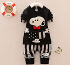 Outfits & Sets! 2PCS NEW Baby Boys  long sleeve T-shirt Top + Pants fit 1-4Y
