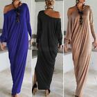 Women Ladies Over Size Casual Maxi Dress Long Sleeve Cocktail Party Dresses G73