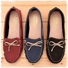BN Womens Soft Padded Casual Walking Bowed Flat Shoes Loafers Moccasin Slide