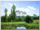 View from Rouelles Monet's First Painting Claude Monet Repro Stretched Art Print