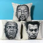 "Sketch Hollywood Movie Star Pillow Case Cushion Cover Square 18"" Linen Decor"