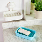 New Plastic Strong Suction Soap Dishes Holder Bathroom Toilet Wall Shower Tray