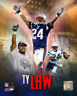 Ty Law Patriots, Jets, Chiefs NFL Licensed Fine Art Prints (Select Photo & Size)