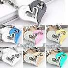 Stainless Steel Seven Color Love Heart Pendant Inoffer Item ID:I3362to3473 1 Pcs