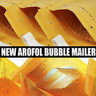 AROFOL GOLD & WHITE PADDED BUBBLE ENVELOPES BAGS ALL SIZES