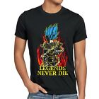 Legends Never Die Vegeta Blue God Ball Herren T-Shirt Son Saiyajin Goku Dragon
