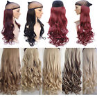 "17-30"" Real Thick 1pcs Clip in 3/4 Full Head Hair Extensions as Human Hair MU"