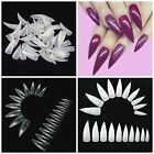 STILETTO Half Cover CLAW Nail Tips **YOU CHOOSE!**