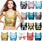 Tunic Sexy Crop Top Vest Women Midriff Shirt Blouse Tank Tops Cami 15 Color N4U8