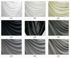 W White Grey Poly Thick *120D Chiffon Mesh Curtain Wedding Dress Fabric Material