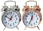 CHAMPION KEY WOUND ALARM CLOCK WING UP TRADITION SILVER COPPER BEDSIDE