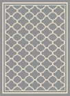 Gray Transitional Geometric Diamond Curves Outdoors Moroccan Tile Area Rug