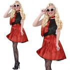40s 50s 60s Ladies Polka Dot Rock Roll Grease Dancing Fancy Dress Costume Outfit