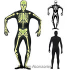 CL543 Skeleton Glow in the Dark Second Skin Suit Zentai Bucks Halloween Costume