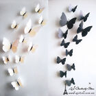 3D Black White Butterfly Wall Stickers Fashion Flower Removable Decor Art Murals