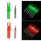 6PCS 6.2mm Shooting Archery Green/Red LED Lighted Nock Compound Bow Arrow Nock
