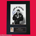CHARLIE HUNNAM Sons of Anarchy Signed Autograph Mounted Photo PRINT A4 589
