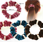 NEW Velvet Elastic Hair Scrunchie Scrunchy Hairband Head Band Ponytail Holder