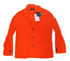 $495 Ralph Lauren RLX Mens Orange Button Zip Cargo Pocket Vest Parka Jacket New